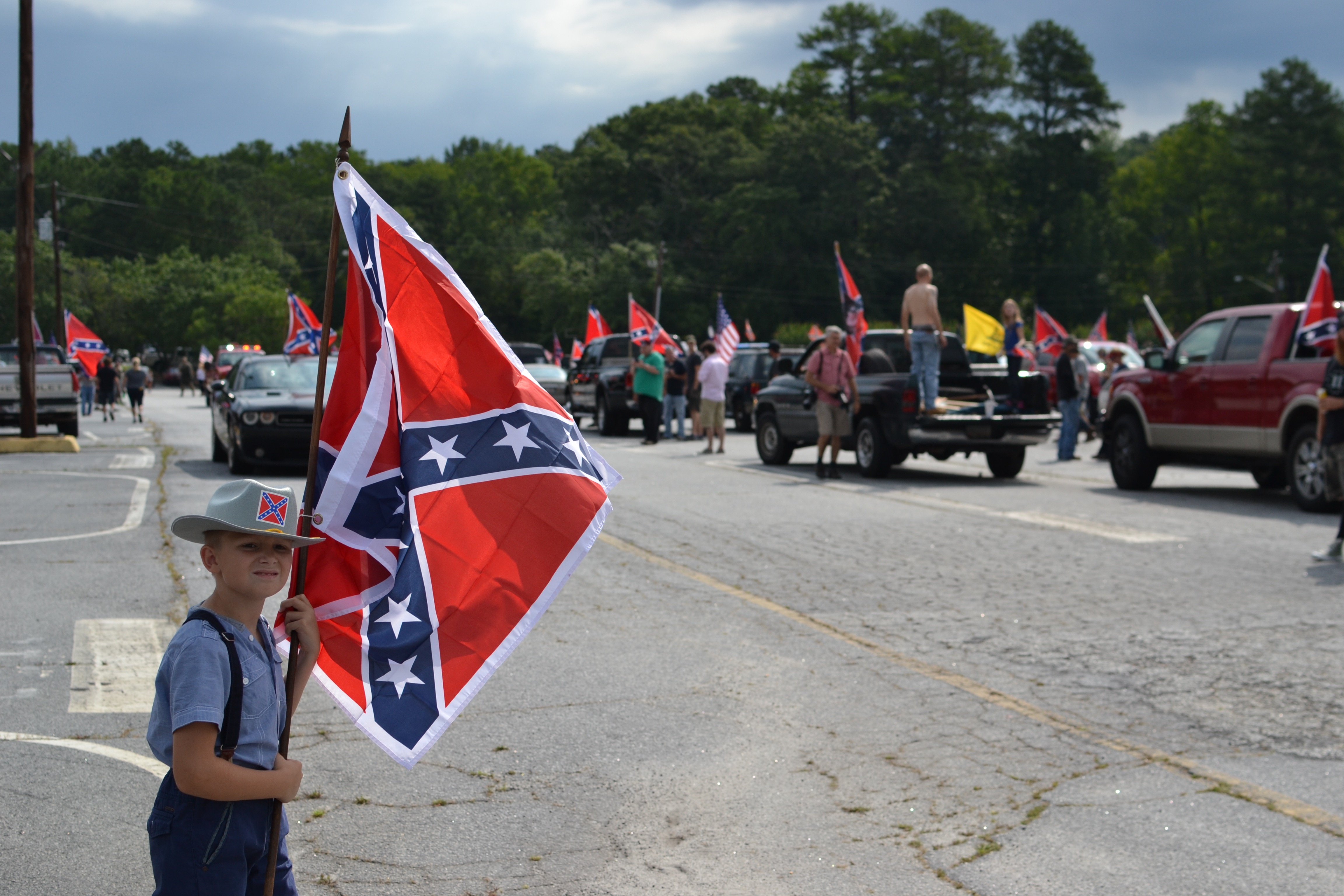 Confederate flag rally at Stone Mountain Park in Atlanta, Georgia
