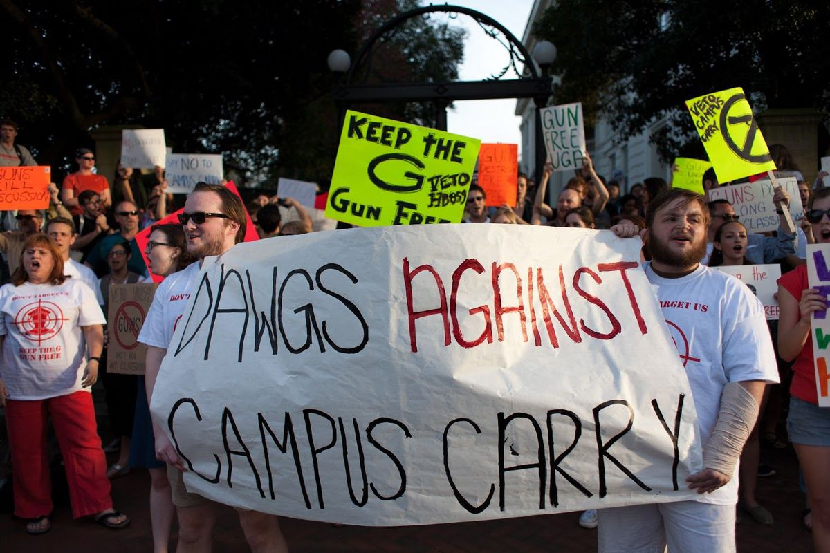 Campus carry gun bill in Georgia