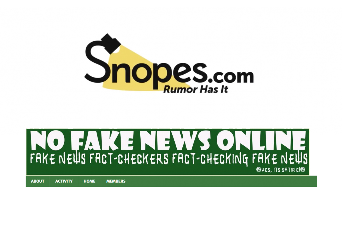 Snopes, a fact-checking project, and one of the  most notorious fake news writers on the internet.